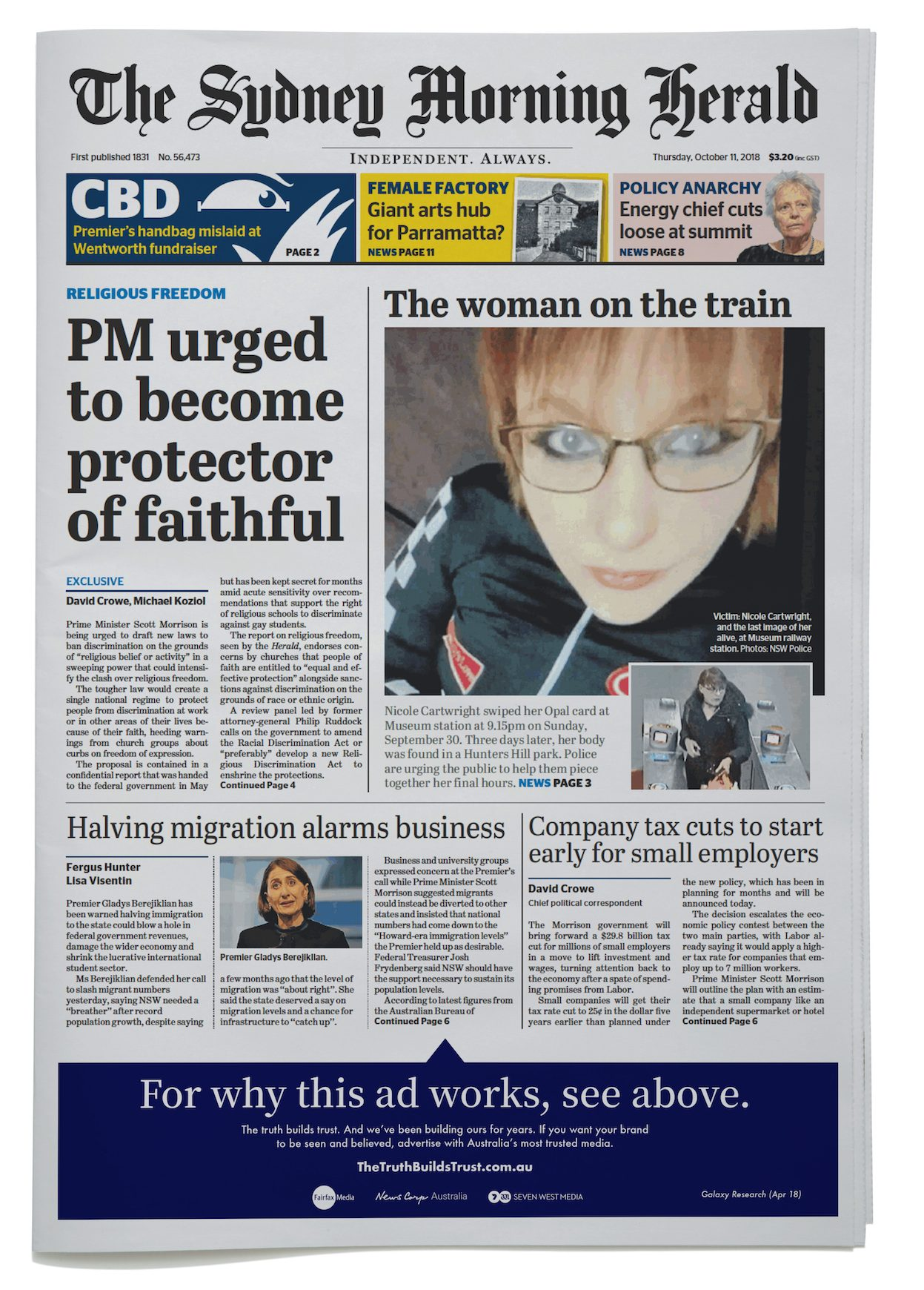 NEWSPAPER_FRONT PAGE_THE SMH