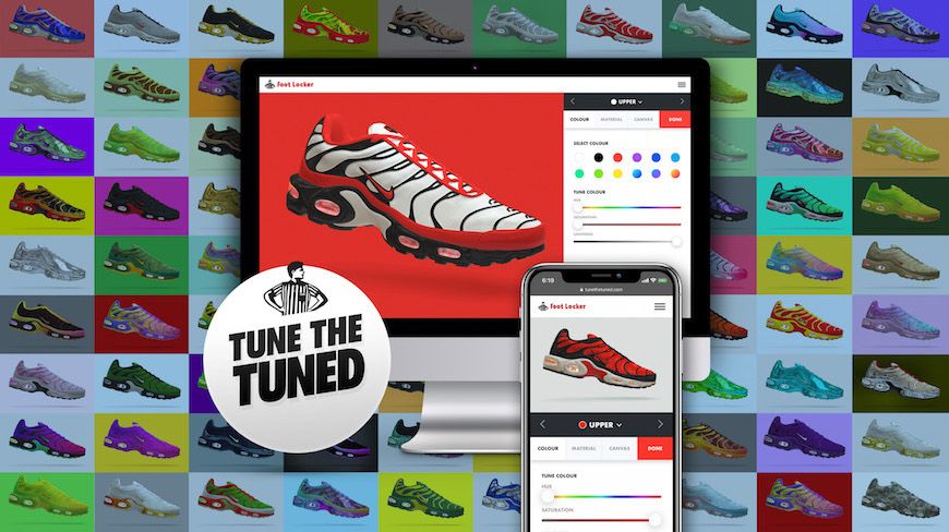 best loved 9c956 c0aaf Isobar  Foot Locker Invite Customers To Custom Design Nike Tuned Air Max  Plus