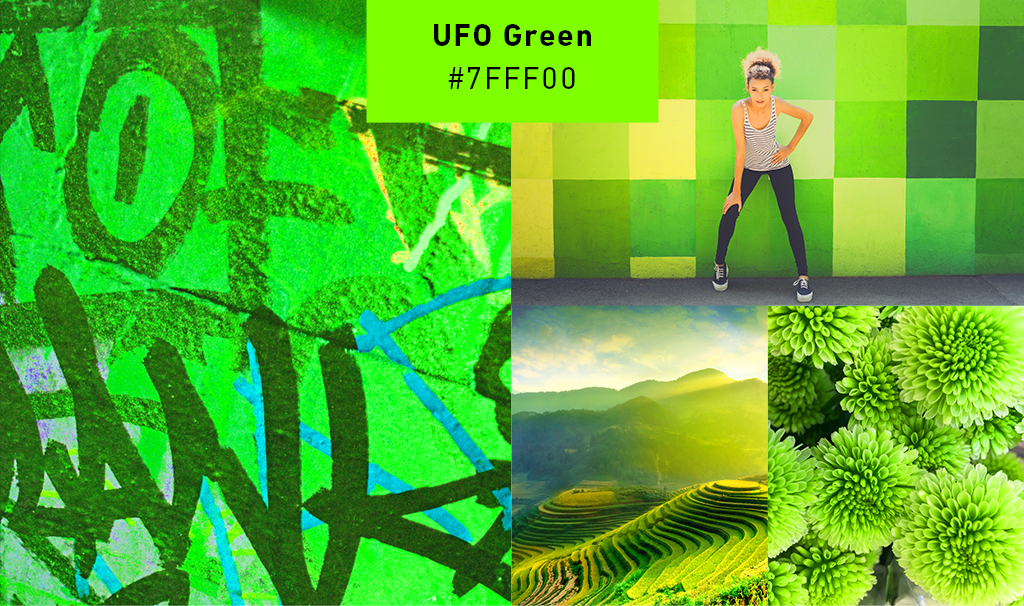 green-collage