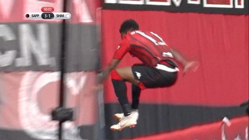 Celebrating Player Jumps Advertising Hoarding, Mistakenly Plummets Three Metres