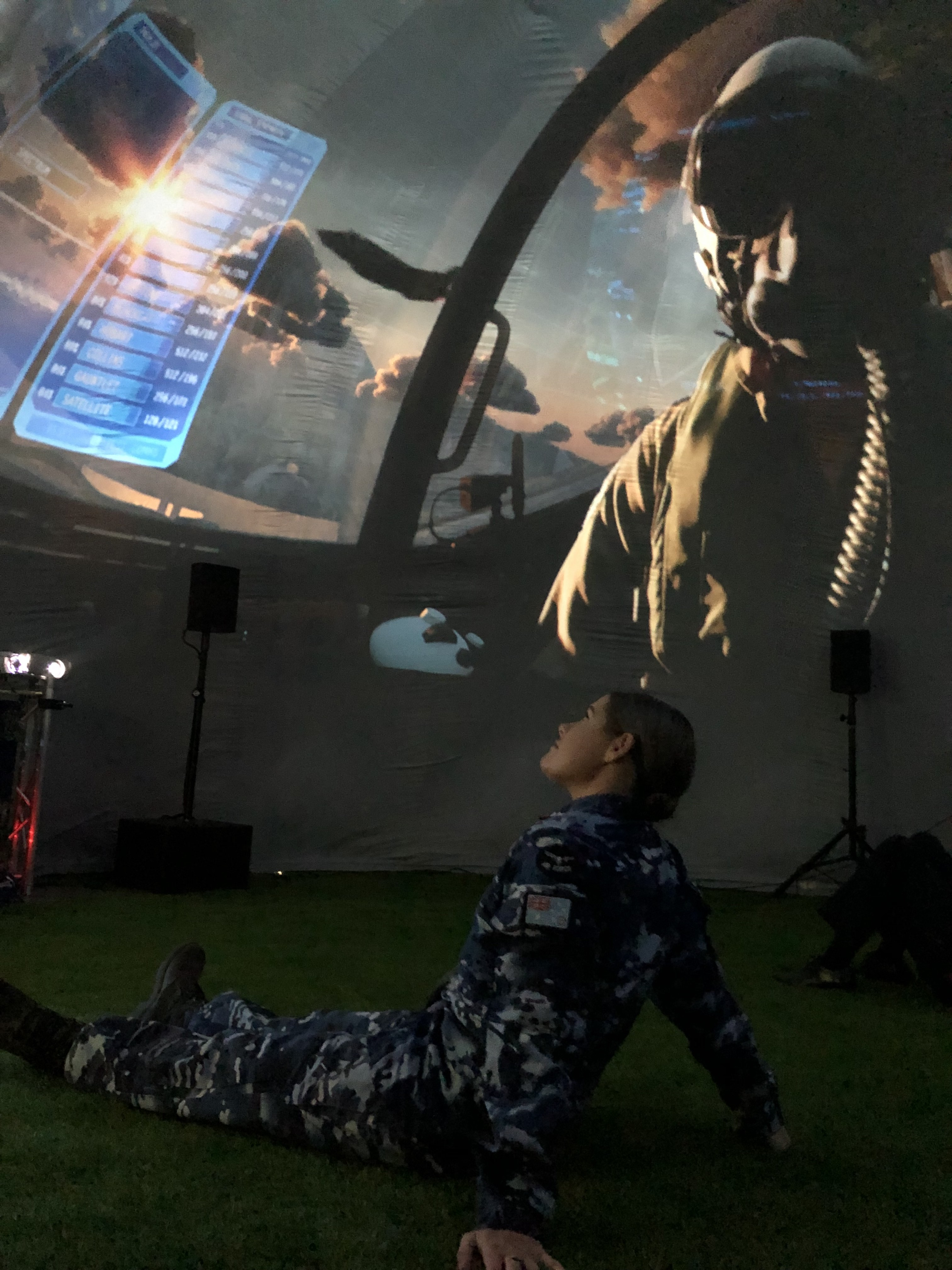 Spinifex Showcases Air Force Of Tomorrow With 360-Degree Dome Projections