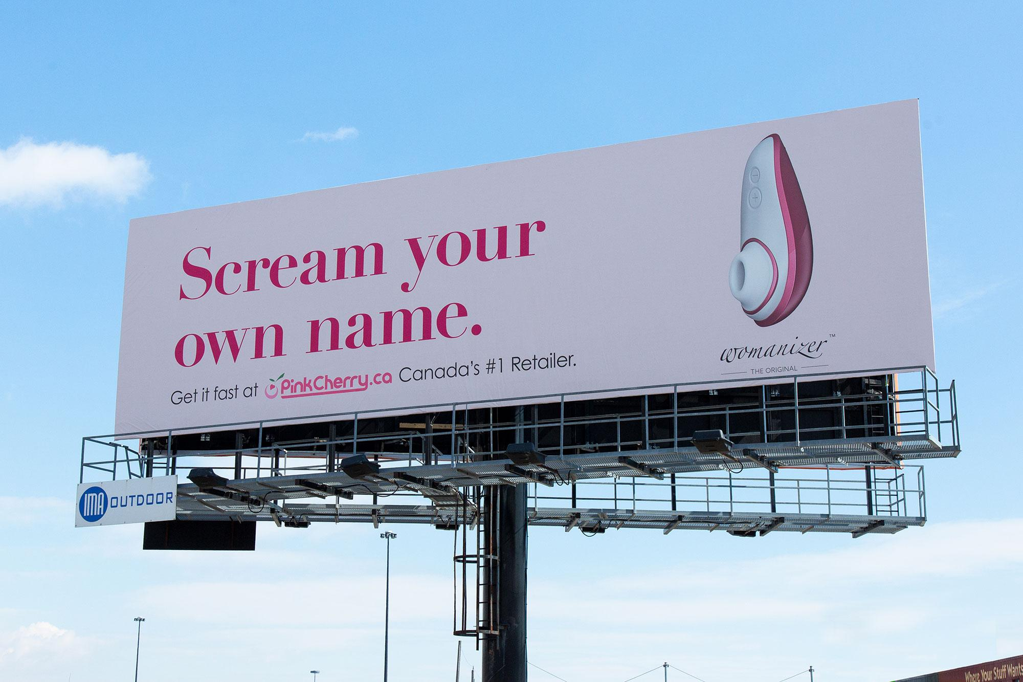 Racy Billboard For Sex Toy Claims A Record After Avoiding Censor's Gaze
