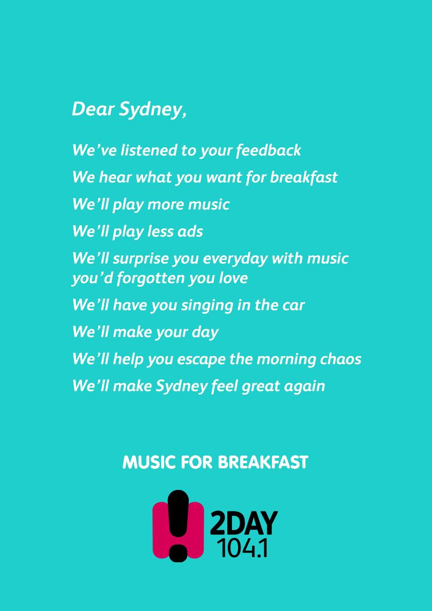 Dear Sydney