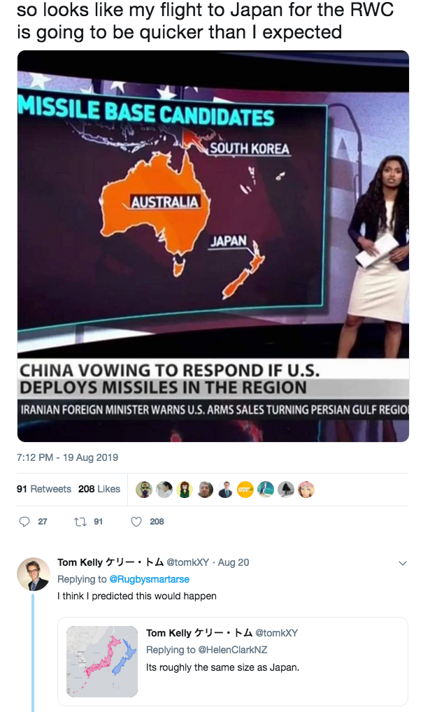 TV News Show Replaces New Zealand With A Map Of Japan - B&T