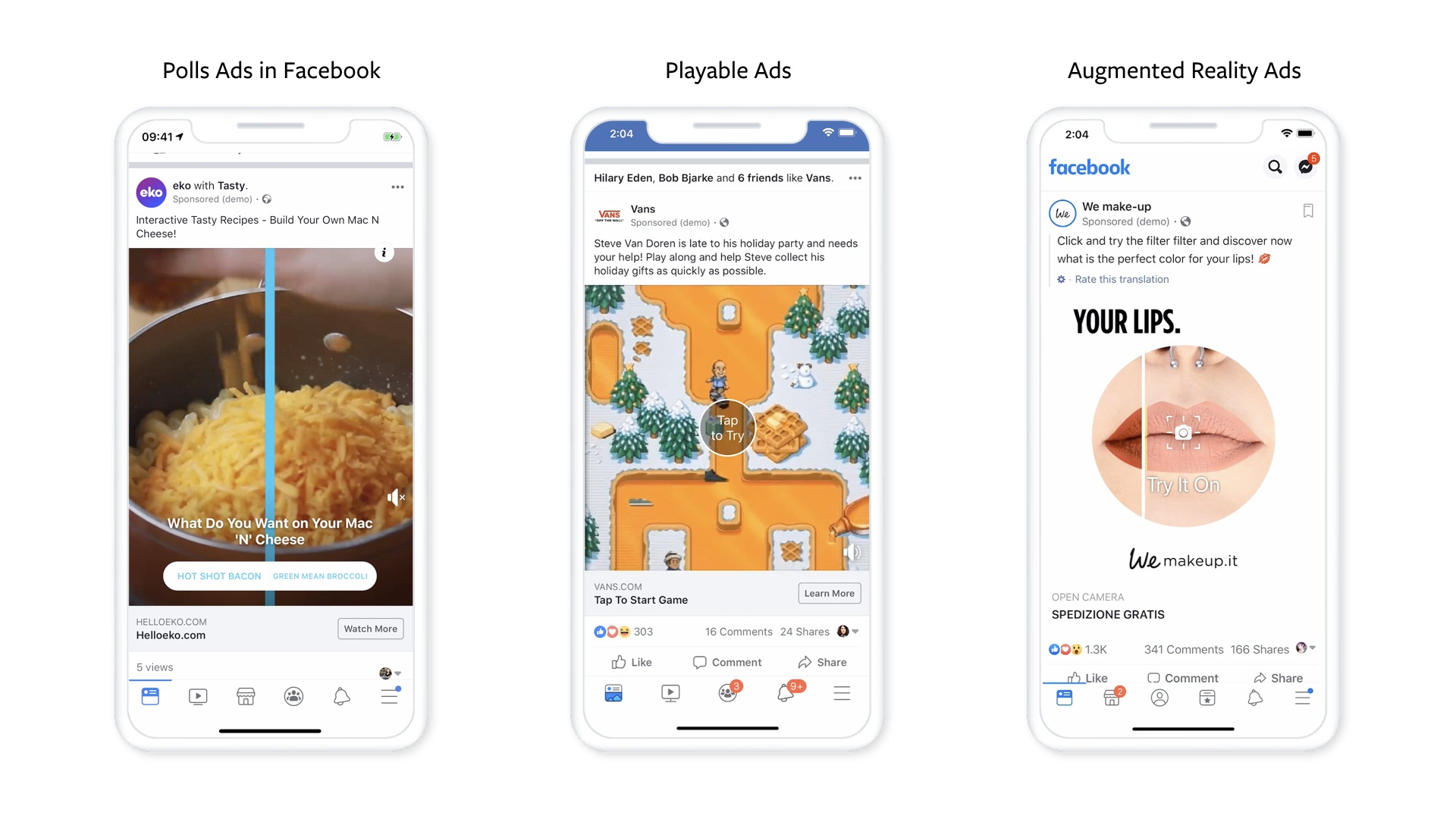 Facebook Puts Interactivity At The Core Of New Ads Bundle
