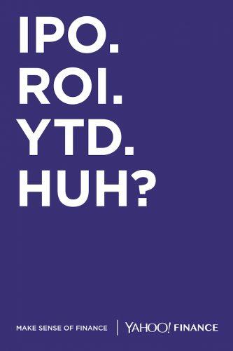 Yahoo Finance OOH consumer campaign