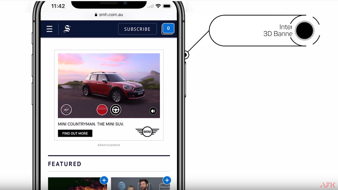 AFK Launches Interactive 3D Banner Ads With MINI