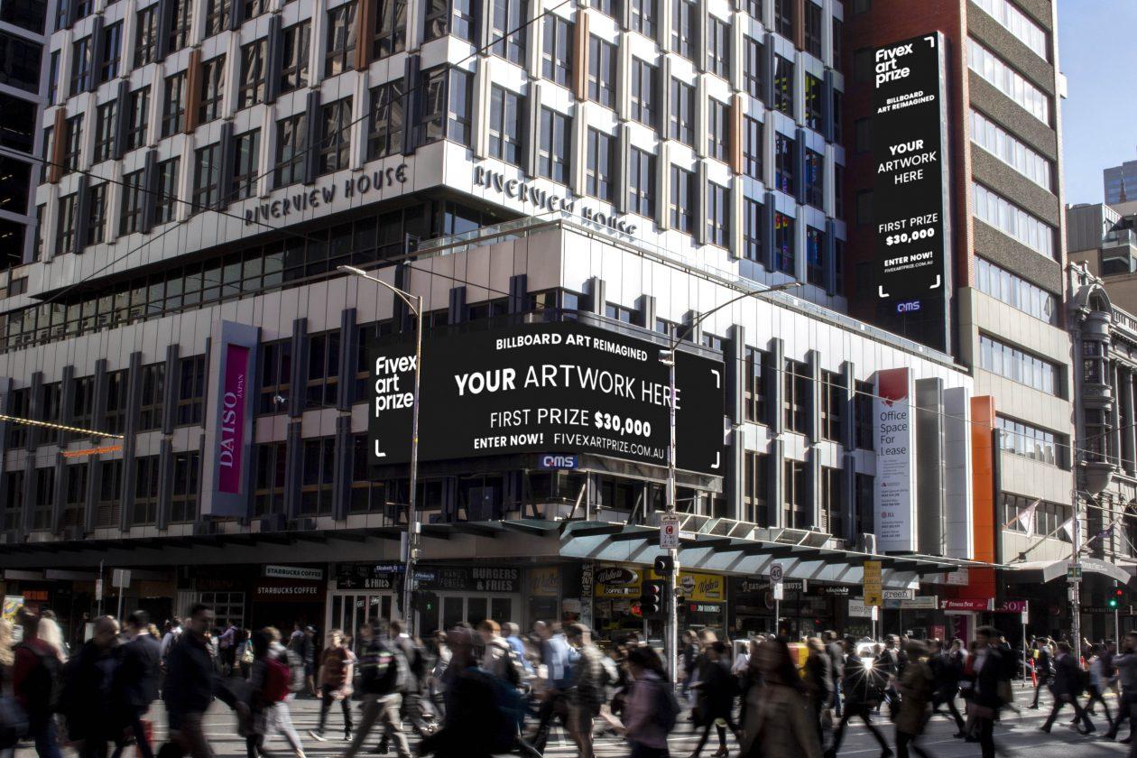 Fivex Art Prize & QMS Challenge Australian Artists To Reimagine Billboard Art