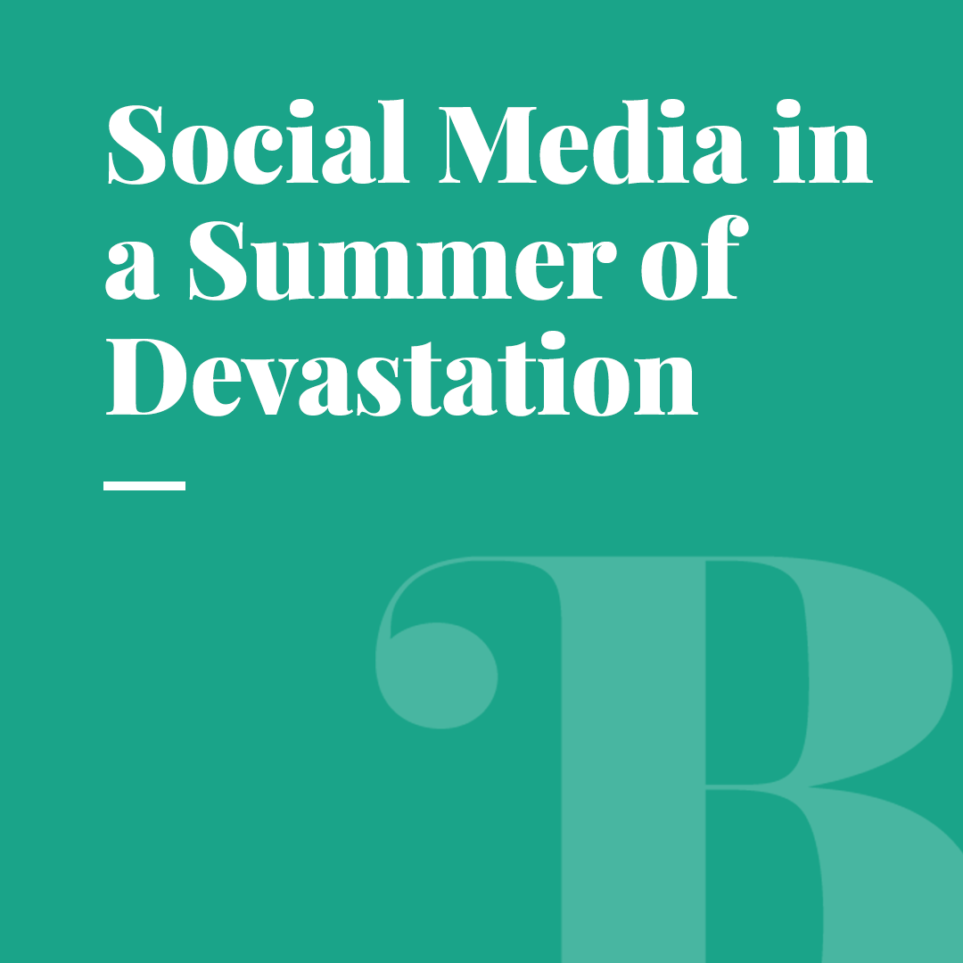 What Role Does Social Media Play During An Australian Summer Of Devastation?