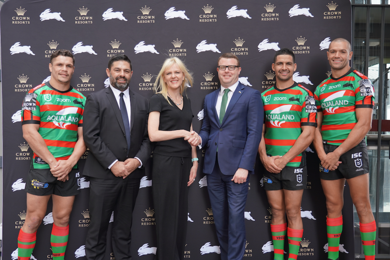 Crown Resorts Partners With South Sydney Rabbitohs B T