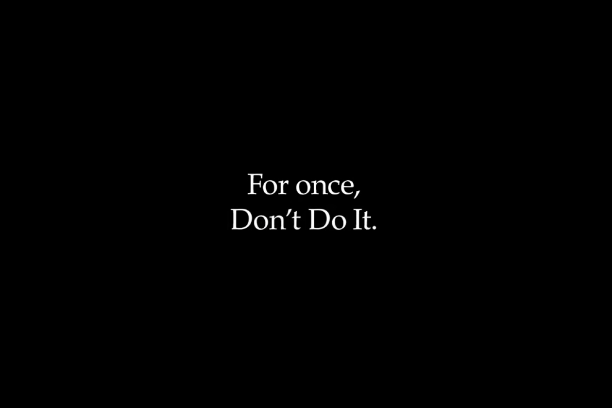 Nike Says Don T Do It Via A Powerful Campaign In Response To George Floyd S Death B T