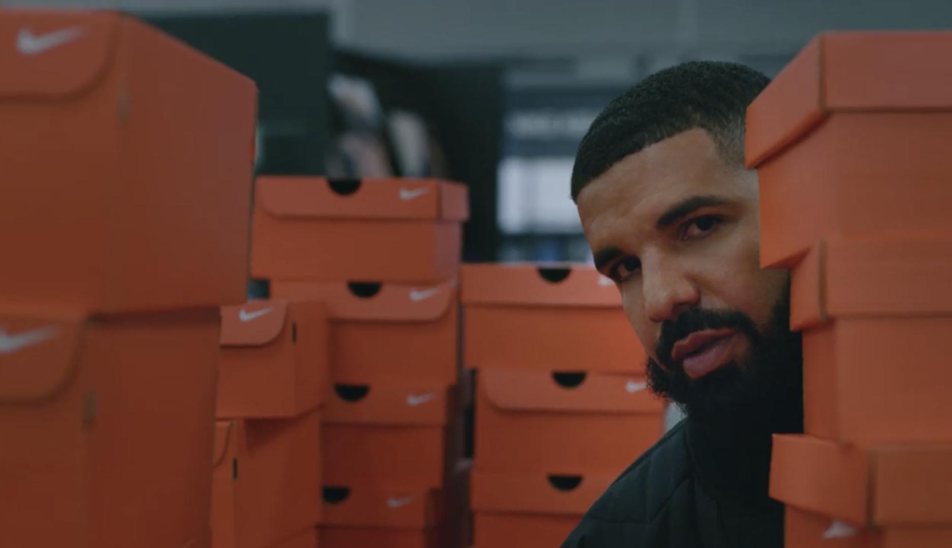 gatito enaguas Mensajero  Drake's New Music Video Is Basically One Long Nike Commercial - B&T